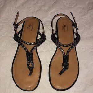 G. H. Bass Ladies Black Sandals